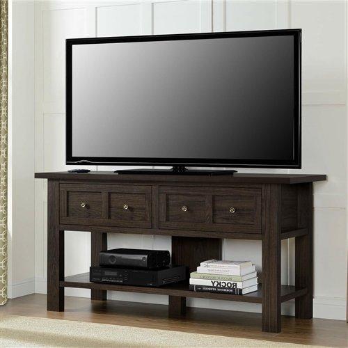 Imtinanz Classic TV Stand Versatile Accent Console Table - Expandable Cherry Entertainment Center