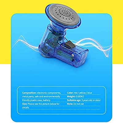 Hisoul Multi Voice Changer - Change Your Voice with 3 Different Voice Modifiers - Kids Mini Toy - Blue/Red/Yellow (Blue): Toys & Games