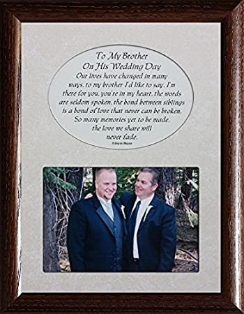 Amazon.com - TO MY BROTHER ON HIS WEDDING DAY Picture & Poetry ...