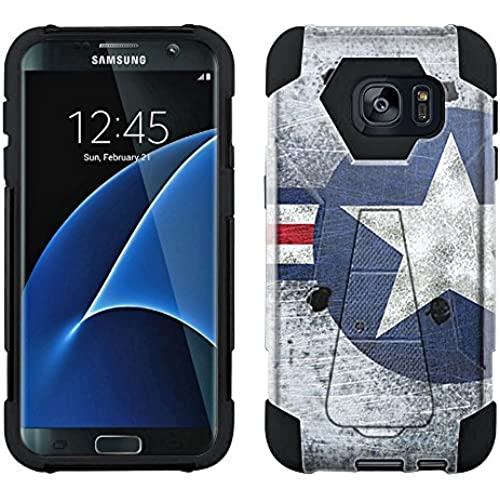 Samsung Galaxy S7 Edge Hybrid Case Shot up USAF War Plane Air Force 2 Piece Style Silicone Case Cover with Stand Sales