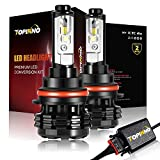 headlight assembly 2003 grand am - TOPINNO LED Headlight Bulbs Conversion Kit, Extremely Bright CREE XHP50 10000LM, 9007 - 6000K Xenon White Headlight Assembly