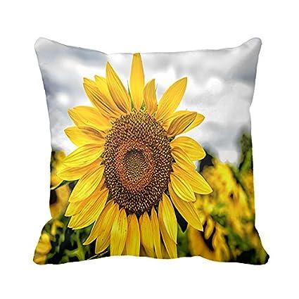 Amazon Starings Pillowcase Sunflower Decorative Pillow Cover Gorgeous Sunflower Decorative Pillows