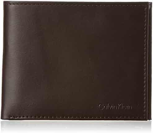 Calvin Klein Men's RFID Blocking Leather Bifold Wallet