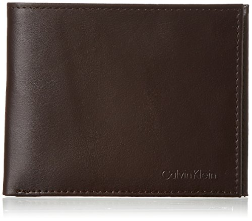 Calvin Klein Men's RFID Blocking Leather Bifold Wallet