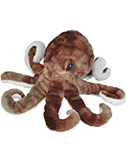 """Wild Republic 21587 Plush, Stuffed Animal Toy Gifts for Kids, Sea Critters, 8"""", Octopus"""