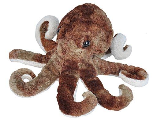 Wild Republic Octopus Plush, Stuffed Animal, Plush Toy, Gifts for Kids, Sea Critters, 8