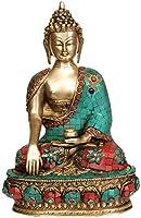 Lord Buddha in Bhumisparsha Mudra - Brass Statue