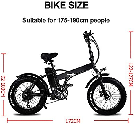 Snowbike Power Assist-Fahrrad CMACEWHEEL GW20 750W 20-Zoll-Elektrofaltrad 48-V-leistungsstarke Lithiumbatterie 4,0-facher Reifen