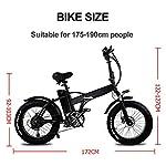 CMACEWHEEL-GW20-20-Pollici-Mountain-Bike-Portatile-750W-E-Bike-Pieghevole-Fat-Bike-da-Neve-a-7-velocita-Batteria-da-48V-ad-Alta-capacita