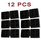 ZaZaTool 12 Pack Rubber Antivibration Pads for Speaker Vibration Isolation 2''x2''x3/4''