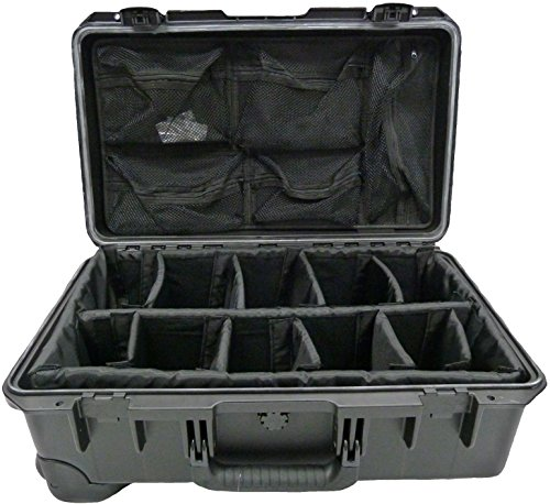 Pelican iM2500 Black with padded dividers & 1519 Lid Organiz