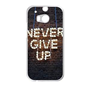 Never Give Up Creative Cell Phone Case For HTC M8