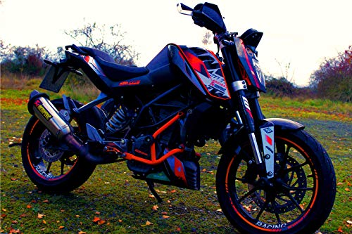 Supermoto Moto Auspuffprotektor Auspuffschutz Auspuffring Schutzring Exhaust Protector Slider Can Cover Silencer Enduro Motoross