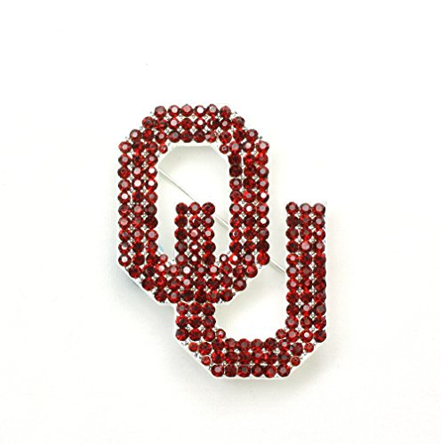 University of Oklahoma Crystal Pin - Oklahoma Sooners Lapel Pins