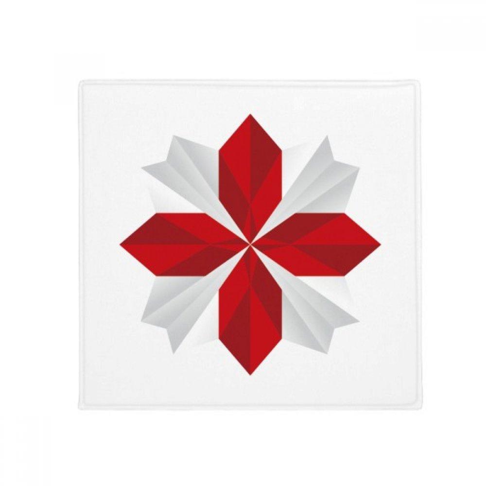 DIYthinker Abstract Christmas Origami Flower Pattern Anti-Slip Floor Pet Mat Square Home Kitchen Door 80Cm Gift