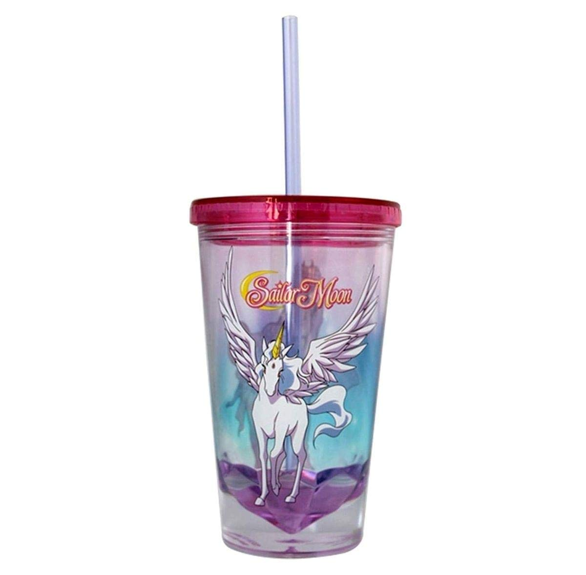 Sailor Moon Pegasus Diamond Bottom 16oz Carnival Cup w/ Straw  Lid