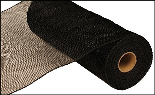 (10 inch x 30 feet Deco Poly Mesh Ribbon - Value Mesh (Black))
