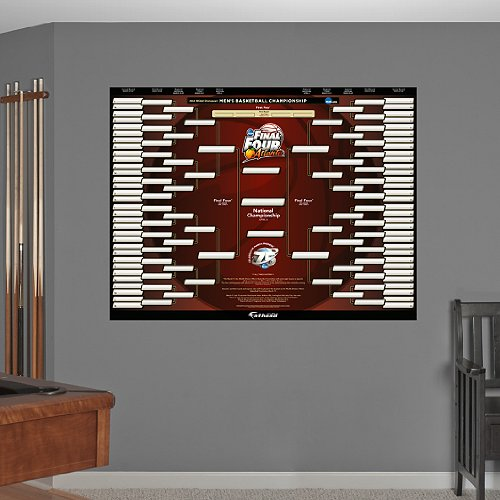 NCAA Tournament Bracket Men's 2013 Division I Basketball Championship Wall Graphic (Ncaa Basketball Bracket compare prices)