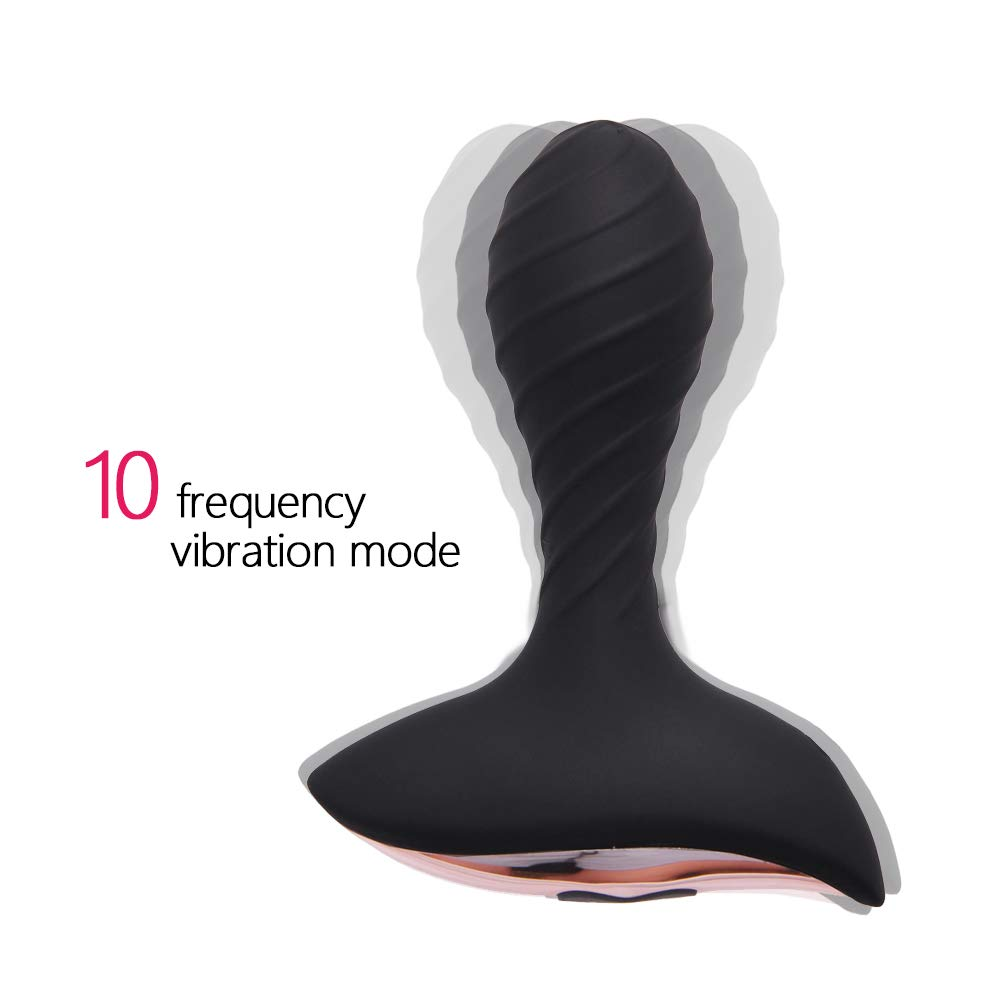 Vibrating Anal Plug Anal Sex Toys with 10 Vibration Modes, Smooth Silicone Anal Vibrator Butt Plug Rechargeable Prostate Massager for Beginner