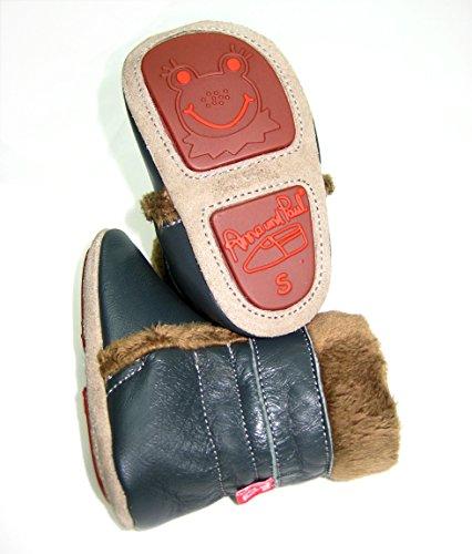 Anna und Paul - Zapatos primeros pasos de Piel para niño Gris antracita Gris - antracita