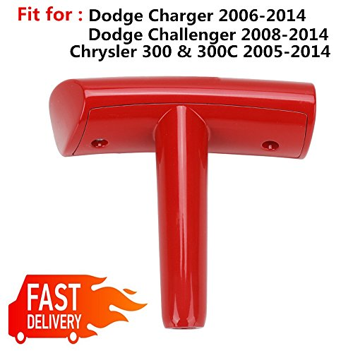 - (for Dodge Ram/Challenger/Charger/Caliber/Journey/Chrysler 300 300C) T-Handle Gear Shift Knob Stick Shifter - Red Zinc alloy -