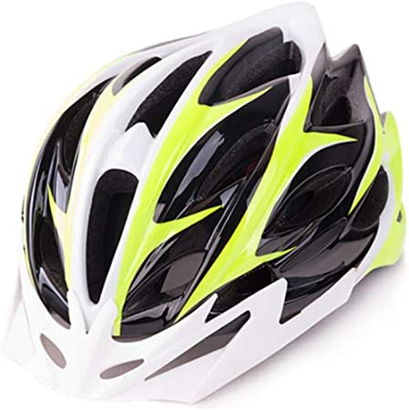 Amazon.es: Casco Adulto De Bicicleta Fluorescente Amarillo Blanco ...