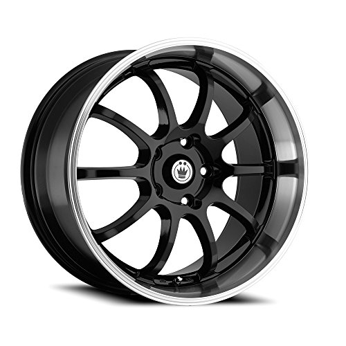 Konig Lightning Gloss Black Wheel with Machined Lip - Machined Wheels Lip