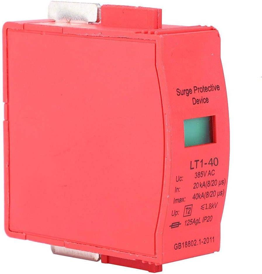 Protector contra sobretensiones de la casa de 385 V 40KA comercio de 3 piezas de bajo voltaje para sistema el/éctrico dispositivo de protecci/ón contra sobretensiones