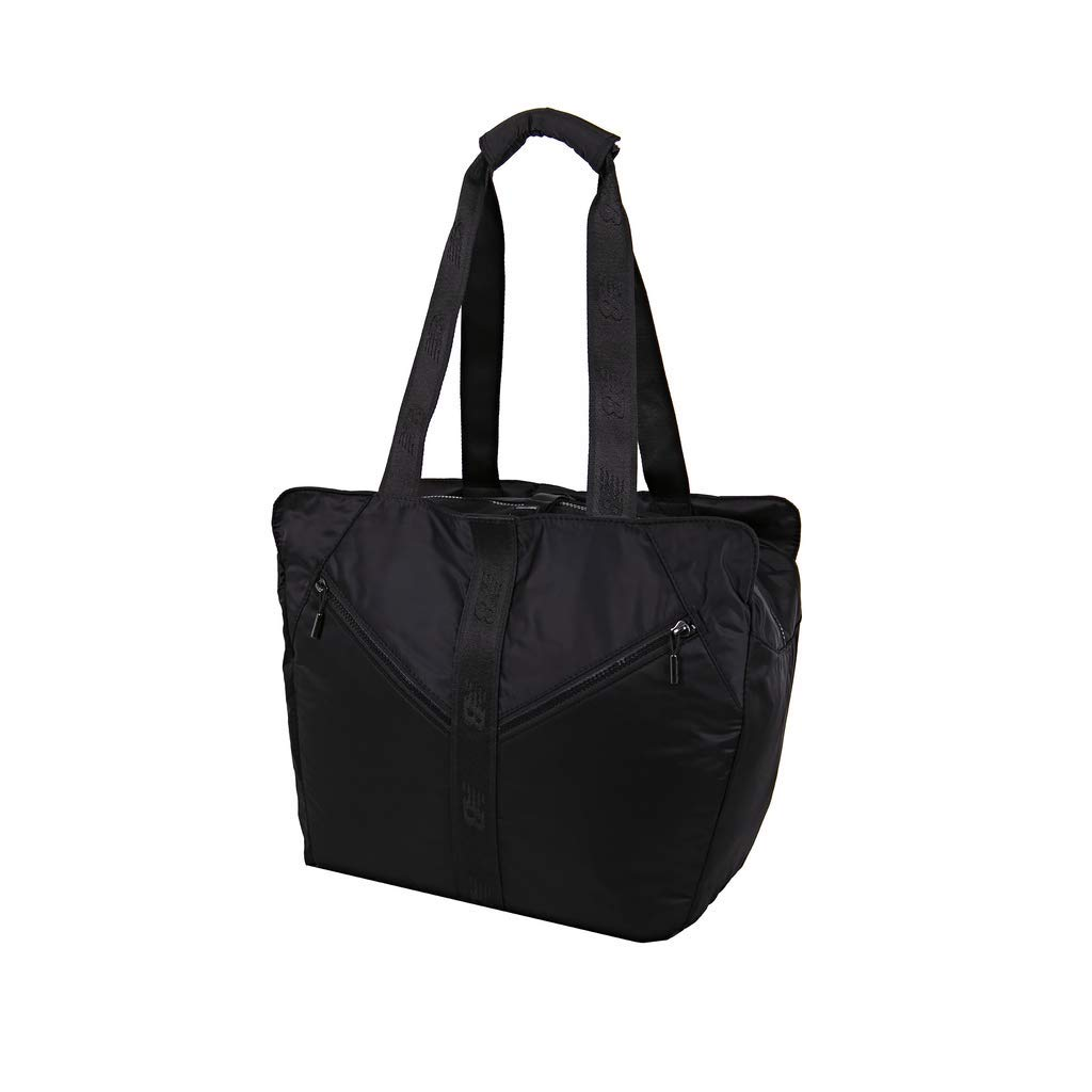 New Balance Women's Medium Training Gym Tote Bag with Yoga Mat Storage, Black, One Size