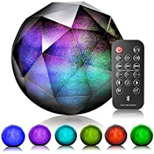 VersionTECH. LED Bluetooth Speaker Colorful Wireless Loud Speaker with Remote Control, Enhanced Bass for iPhone iPad Samsung PC,Support Aux-in/tf Card (Renewed)