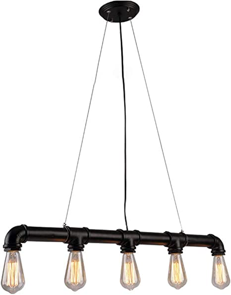 Iron Wood Pendant Lights Industrial Chandelier Lamp Lighting Bar Ceiling Decor