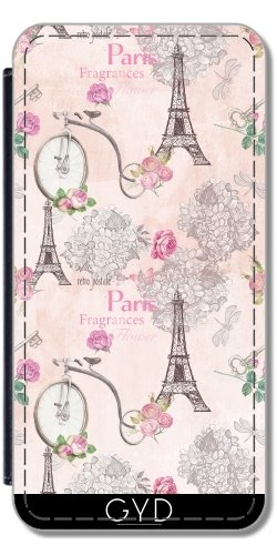 Leder Flip Case Tasche Hülle für Apple Iphone 7 / Iphone 8 - Paris, Frankreich Eiffelturm Liebe by UtArt