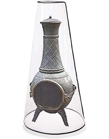 ChengYi Cubierta para Chimenea de Patio, Cubierta Resistente para Calentador de Hoguera al Aire Libre