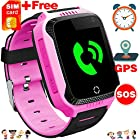 "[Free SIM Card] Kid Smart Watch GPS Tracker Best Phone Watch for Boys Girls Fitness Tracker Anti-Lost Camera SOS Alarm Clock 1.54"" Touch Screen Sport Game Wrist Watch Christmas Birthday Holiday Gift"