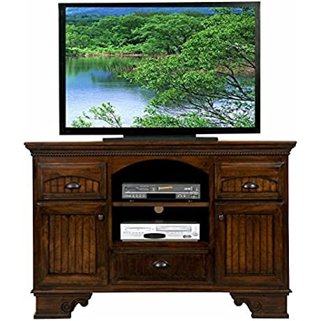 Eagle 16057WPSB American Premiere Entertainment Console With 2 Doors 58 Smokey Blue Finish