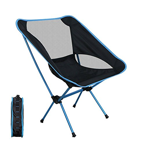 Kany Portable Ultralight Heavy Duty Folding Chair for Picnic,Hiking, Fishing, Camping, Garden BBQ, Beach Patio Chair Outdoor Chair (blue) (Outdoor Rocking Chairs Cheap)
