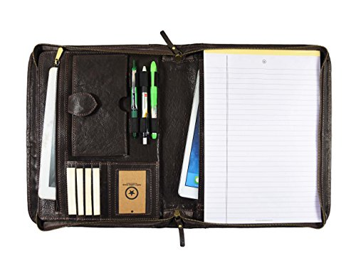 ne Leather Business Portfolio and Professional Organizer with a Legal Notepad and Gift Box, by Aaron Leather ()
