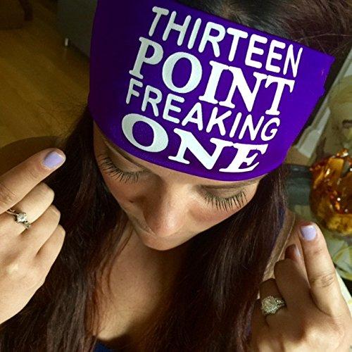 Thirteen point freaking 1つ。ヘッドバンドbyヒッピーランナー。The # 1 Choice 。選手forスリップno、NO DRIP用ヘッドバンドランニング、ウォーキング、練習またはファッション。 One Size ティール B01KYZCZEO