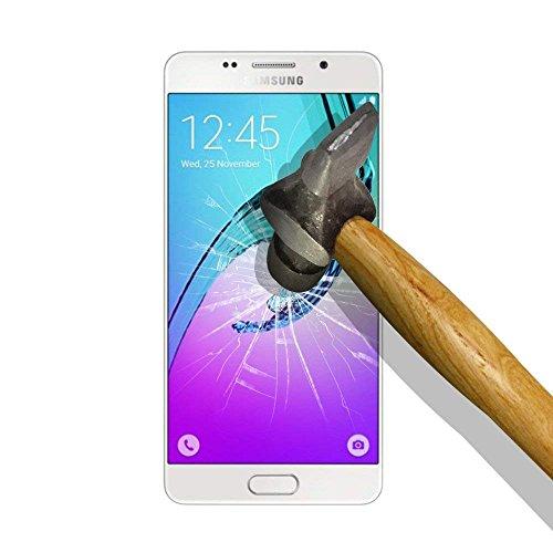 Aribest Schutzfolie für Samsung Galaxy A5 (2016) [3 Stück] Anti Öl, Kratzen und Fingerabdrücke Blasenfrei, Tempered Glass 9H Hartglas, 99% Transparente Displayschutzfolie für Samsung Galaxy A5 2016