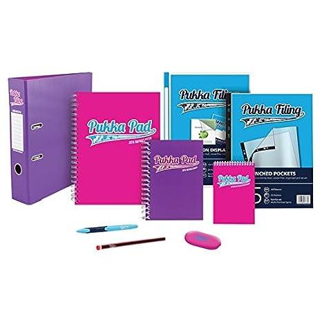 Cuaderno y archivador rosa, de Pukka, color brillante: Amazon.es: Oficina y papelería
