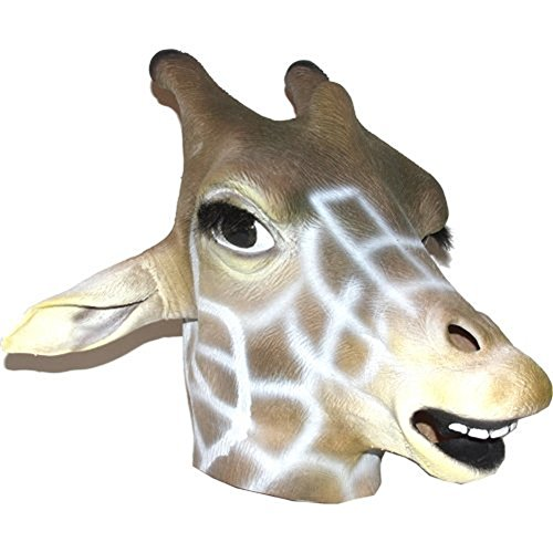 Dillon Realistic Giraffe Mask : Full Face Rubber