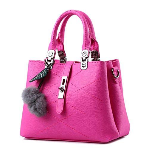 Bolso de hombro de señora Bolso de mano Bolso de satchel de Messenger Crossbody Rosa