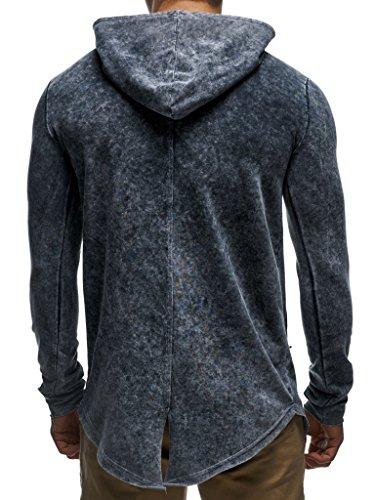 Sweat Leif Pullover Hoodie gesprenkelt Col Anthrazit Sweater Longsleeve Des Nelson Hommes Haut Ln06211 Oversize Pour qawZrIa