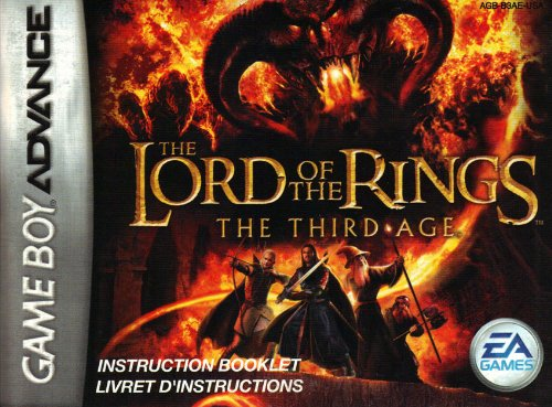 Lord of the Rings - The Third Age GBA Instruction Booklet (Game Boy Advance Manual Only) (Nintendo Game Boy Advance Manual)