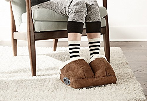 (Sharper Image Warming Foot Massager - Dark Tan )