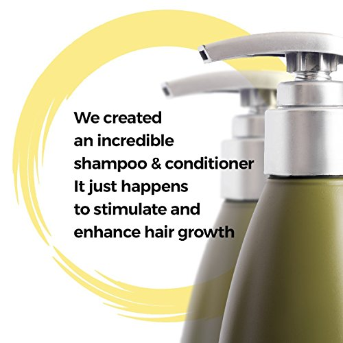 Natural Shampoo - Free Infused Coconut, Biotin Color Safe - - 13.5 ounce