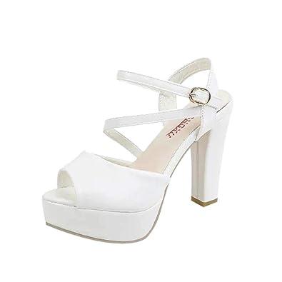 0183d473c4e6 Chunky Block Platform Wedges Sandals for Women