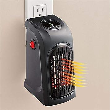 GLJY Calentador Portátil, Calentador De Espacio Personal Enchufable Ventilador De Aire Caliente con Termostato Y Temporizador para Escritorio De Oficina: ...