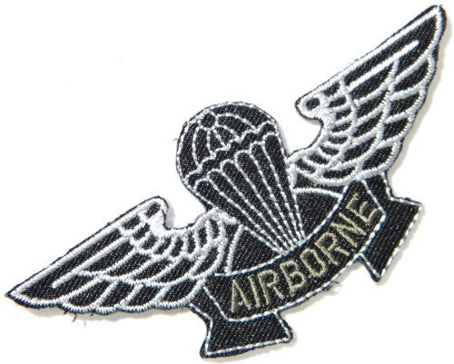 Us Paratrooper Costume (AIRBORNE AIR FORCES US USAF Paratrooper Pilot Tab army navy academy military us air force academy cavalry marine corps national guard logo Jacket Patch Sew Iron on Embroidered Sign Badge Costume)