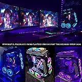 KEDIERS 7 PCS RGB Fans ATX Mid-Tower PC Gaming Case